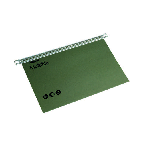 Rexel Multifile Suspension File 15mm A4 Green (Pack of 50) 78617
