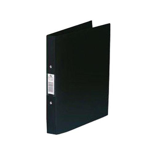Rexel Budget 2 Ring Binder A4 Black (Pack of 10) 13422BK
