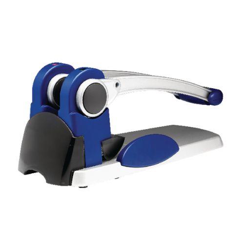 Rexel HD2300X Ultra Heavy Duty 2 Hole Punch Silver Blue