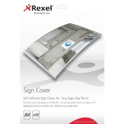 Rexel A4 Self Adhesive Sign Cover Pk10