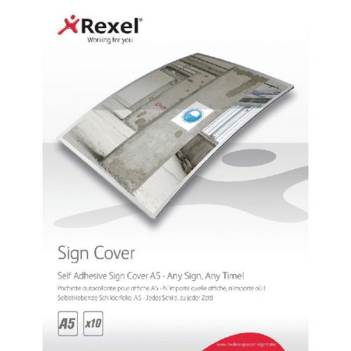 Rexel A5 Self Adhesive Sign Cover Pk10