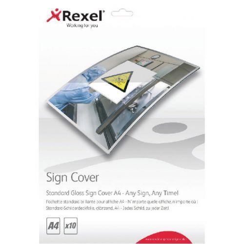 Rexel A4 Standard Gloss Sign Cover Pk10