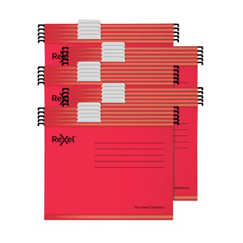 Rexel Classic Suspension Files A4 Red PK25