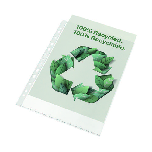 Rexel Pocket Recycled PP 70 Micron A4 PK100 2115702