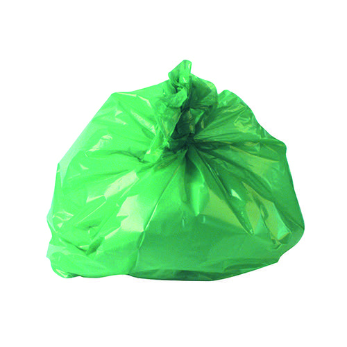 2Work Medium Duty Refuse Sack Green (Pack of 200) RY15561
