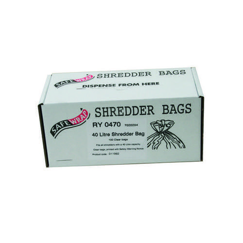 Safewrap Shredder Bag 40 Litre (Pack of 100) RY0470