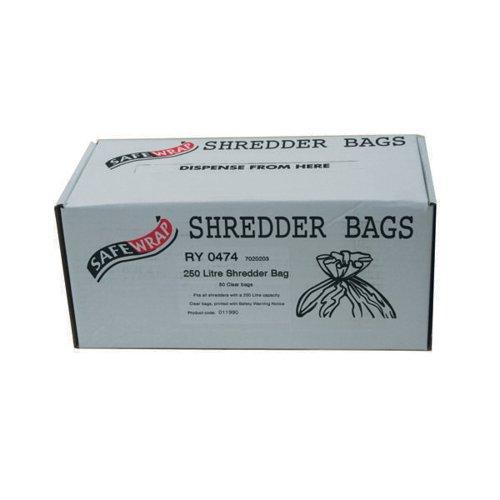 Safewrap Shredder Bag 250 Litre (Pack of 50) RY0474