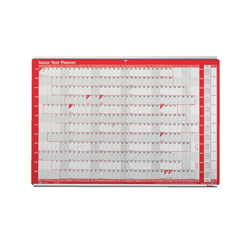 Sasco Aluminium Mounted Planner Track (Pack of 2) 20360