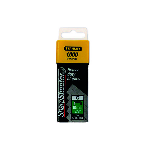 Stanley SharpShooter Heavy Duty 10mm 3/8in Type G Staples (Pack of 1000) 1-TRA706T