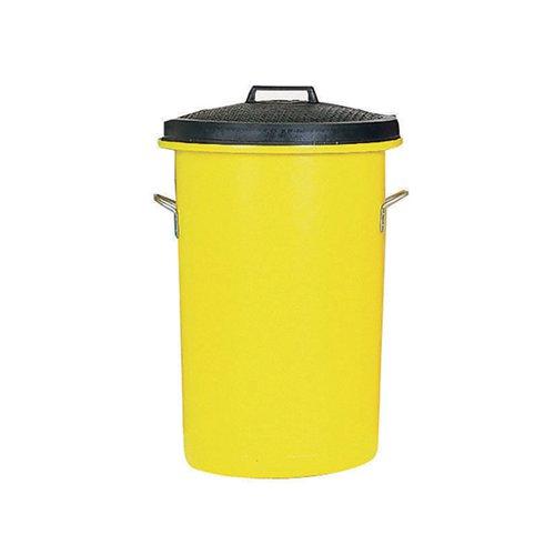 Heavy Duty Coloured Dustbin 85 Litre Yellow 311971