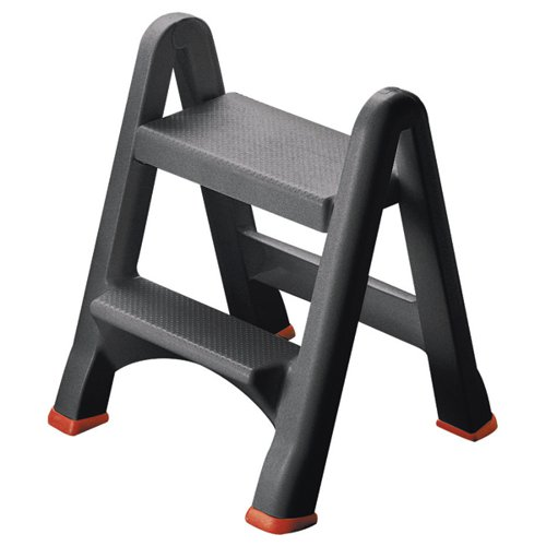 Folding Plastic Step Stool Black 333650