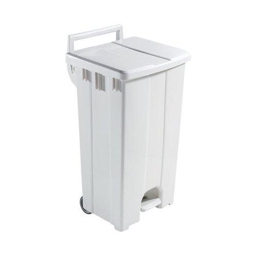 Plastic Pedal Bin With Lid 90L Grey 357001