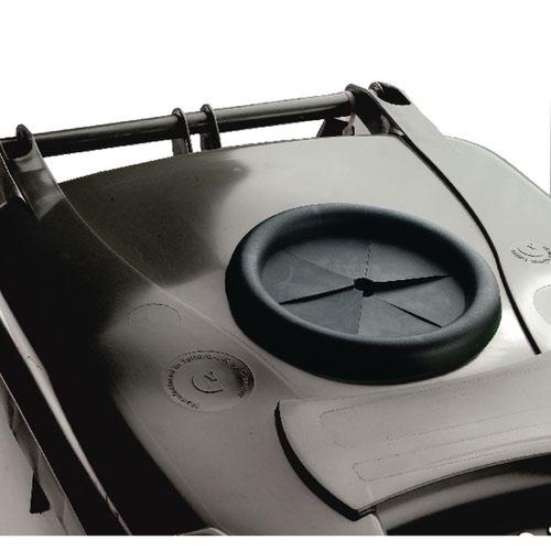 Wheelie Bin With Bottle Bank Aperture 240 Litre Grey 376848