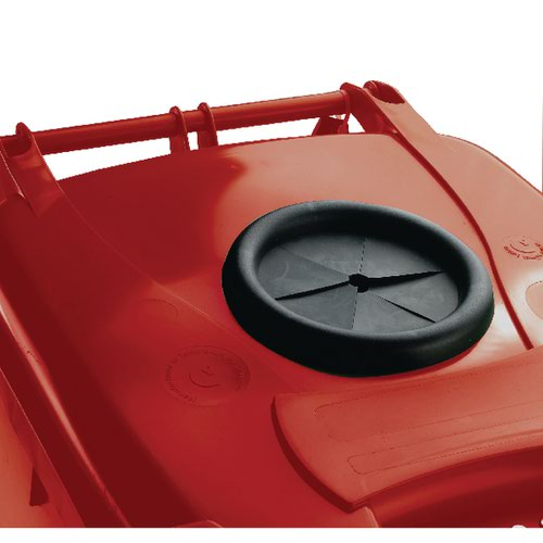 Wheelie Bin With Bottle Bank Aperture 240 Litre Red 377871