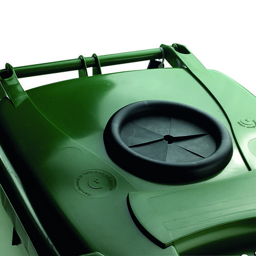 Wheelie Bin With Bottle Bank Aperture 240 Litre Green 377876