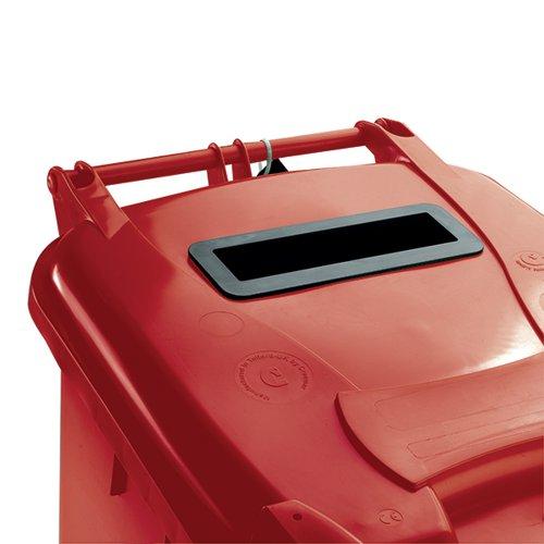 Confidential Waste Wheelie Bin 140 Litre Red 377903