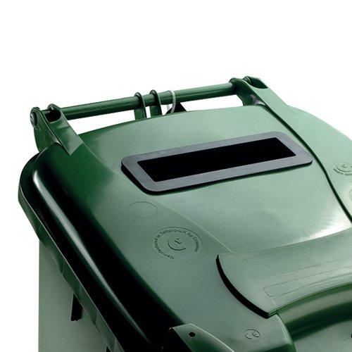 Confidential Waste Wheelie Bin 240 Litre Green 377916
