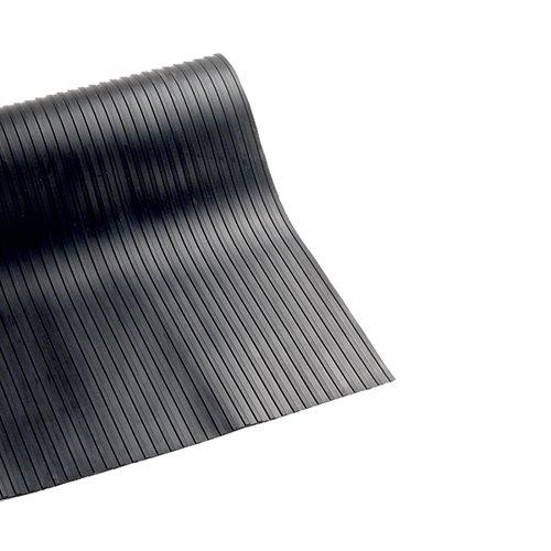 VFM Broad Ribbed 3mm Matting 900mmx10m Black 378749