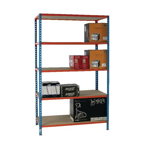 Standard Duty Painted Orange Shelf Unit Blue 378983