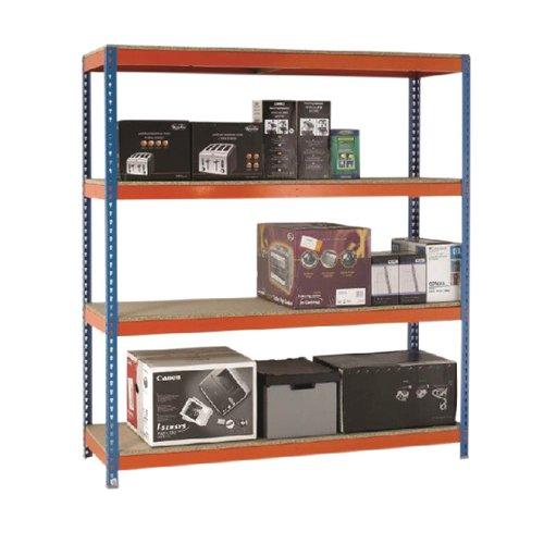 VFM Orange/Zinc Heavy Duty Painted Shelving Unit 379024