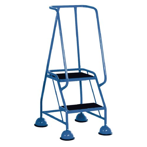 Light Blue 2 Tread Steps (125kg Capacity W380 x D540 x H1185mm) 385130