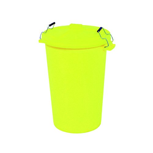 Dustbin with Clip On Lid Yellow 90L 415696