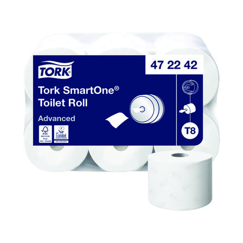 Tork T8 SmartOne Toilet Roll 2-Ply 1150 Sheets (Pack of 6) 472242