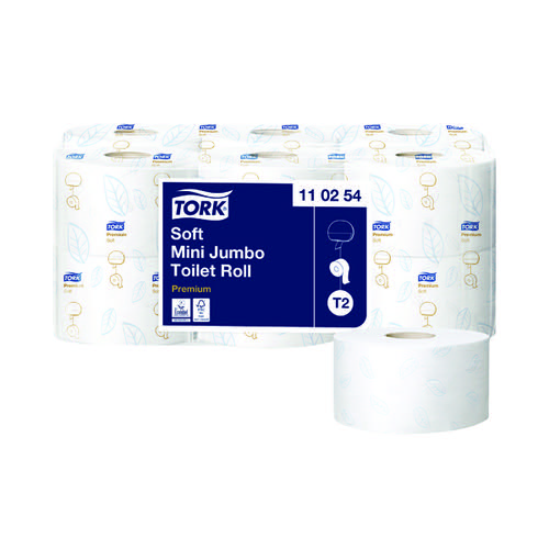 Tork T2 System Mini Jumbo Roll 2-Ply 850 Sheets (Pack of 12) 110254