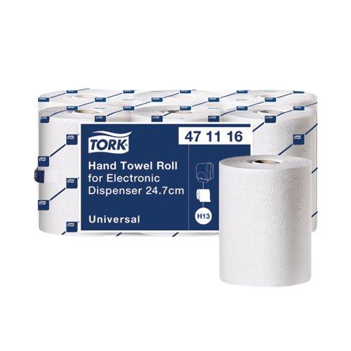 Tork Hand Towel Roll 1-Ply White For Electronic Dispenser (Pack of 6) 471116