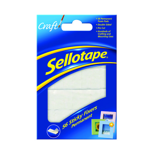 Sellotape 56 Sticky Perm 12x25mm Fixers