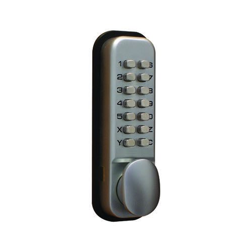 Lockit Mechanical Push Button Digital Lock Chrome DXLOCKITHB/C