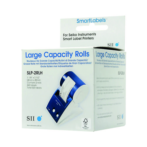 Seiko Address Label White 29x89mm (Pack of 520) SLPM2RLH