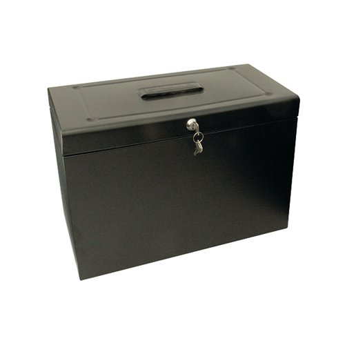CATHEDRAL BLACK METAL FILE BOX HOBLACK