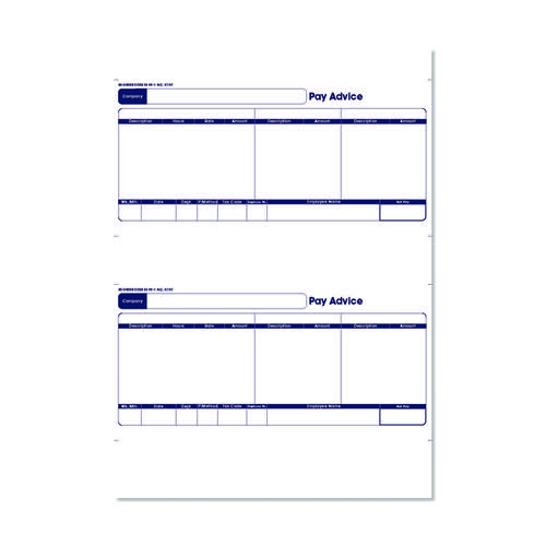 Sage 1-Part Laser Pay Advice Forms (Pack of 500) SE95S