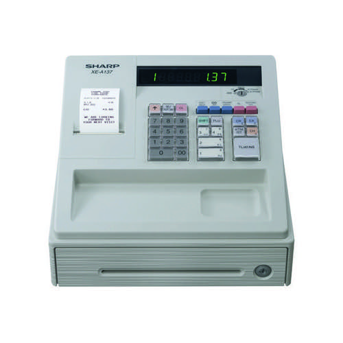 Sharp XE-A137 Cash Register White XEA137WH