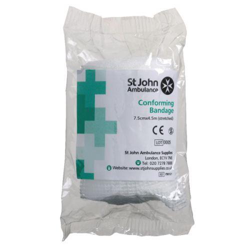 St John Ambulance Conforming Bandage 75mm x 4.5m  F90121