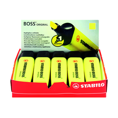 Stabilo Boss Original Highlighter Yellow (Pack of 10) 70/24/10