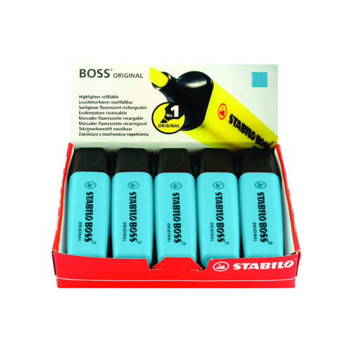 Stabilo Boss Original Highlighter Blue (Pack of 10) 70/31/10