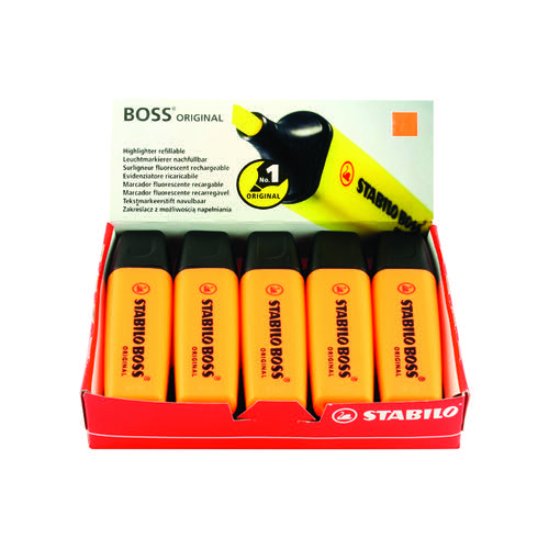 Stabilo Boss Original Highlighter Orange (Pack of 10) 70/54/10