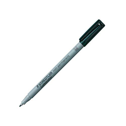 Staedtler Lumocolour Universal Pen Water Soluble Medium Black (Pack of 10) 315-9