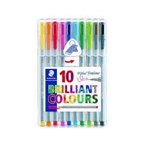 Staedtler Triplus Fineliner Pens Assorted Colours (Pack of 10) 334 SB10
