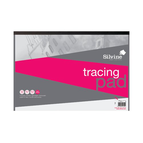 Silvine Everyday Tracing Pad 50 Sheets A3 A3T50