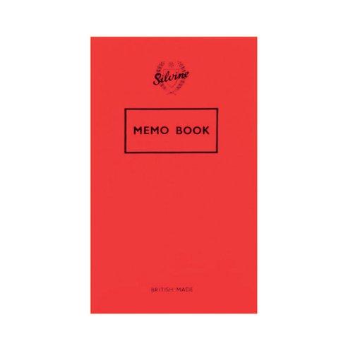 Silvine Memo Book 159x95mm 36 Leaf Ruled Feint (Pack of 24) 042F-T
