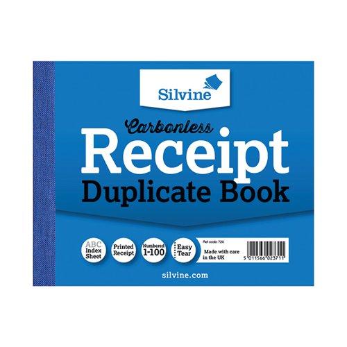 Silvine Duplicate Recept Book Pk12 720-T