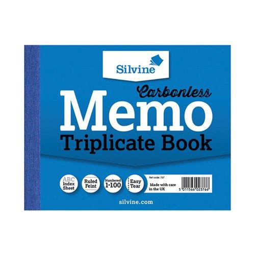 Silvine Carbonless Triplicate Book 102x127mm PK5