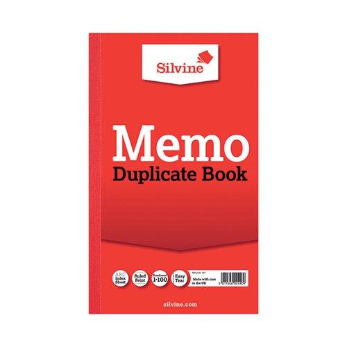 Silvine Dupl Book Memo Ruled 601 Pk6
