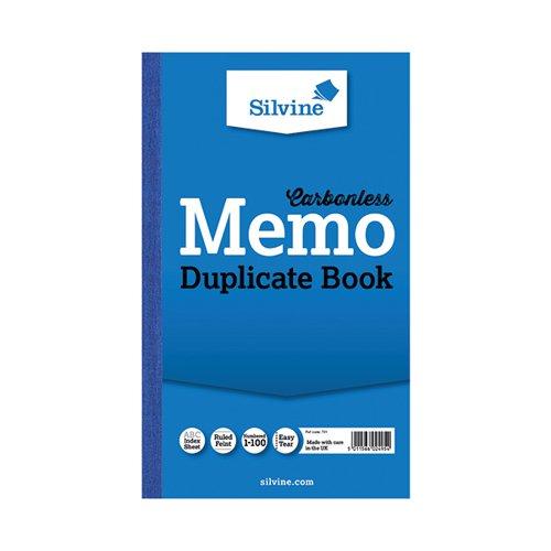 Silvine Dupl Memo Book 701-T Pk6