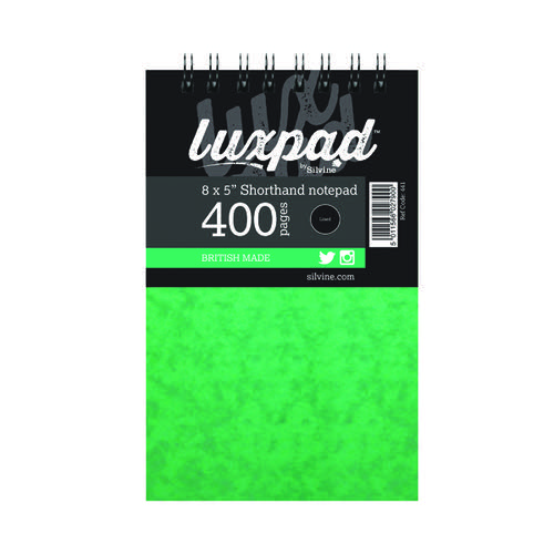 Silvine Luxpad Spiral Bound Shorthand Notebook 400 Pages 127x203mm (Pack of 6) 441-T