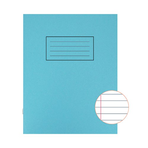 Silvine Exercise Book Ruled 229x178mm Blue (Pack of 10) EX104