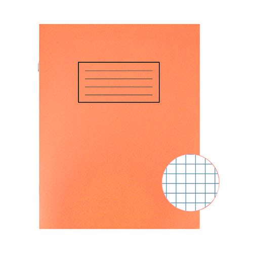 Silvine Orange 229 x 178mm Exercise Book 80 Pages 5mm Squares (Pack of 10) EX105
